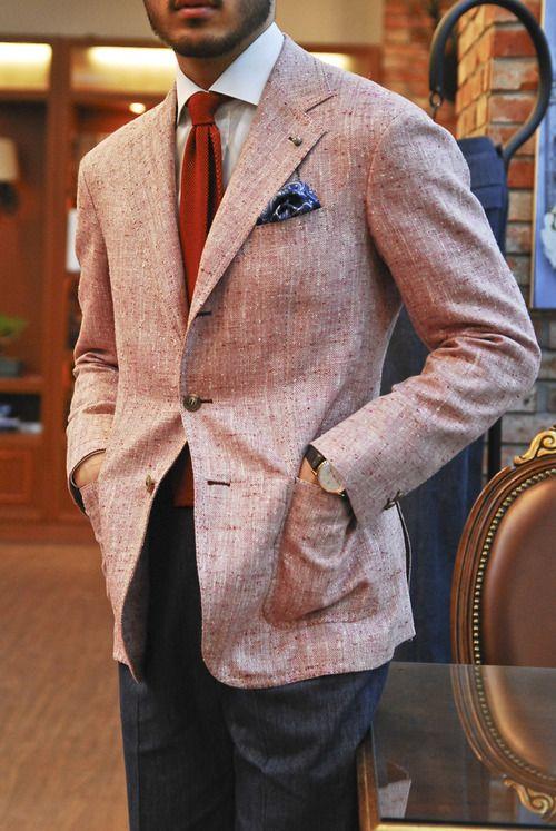 vannikorea:  Ariston Napoli Summer Tweed Jacket for Burno. Made by Sartoria Vanni