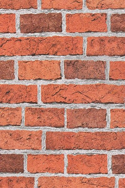 Terracotta Rustic Brick Wallpaper