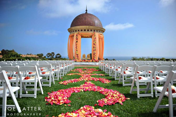 Shawna Yamamoto Event Design, Pelican Hill, Newport Beach, luxury wedding, lavish ceremonies, OC wedding, orange county, aisle, pink and coral flowers, outdoor ceremony, featured on LoveLuxeLife, see more at www.loveluxelife.com, #weloveluxelife