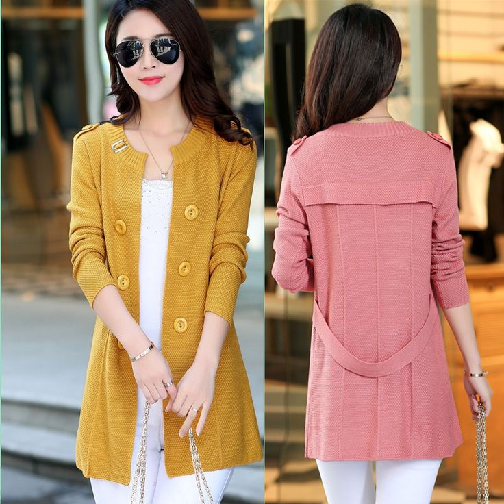 9b06945e0 2017 New Fashion Autumn Women Sweater Cardigans Casual Warm Long Design  Female Knitted Coat Cardigan Sweater ...