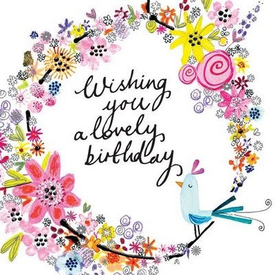 Wishing you a lovely birthday