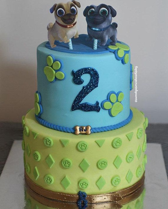 Puppy Dog Pals Cake Toppers Dog Themed Birthday Party Puppy
