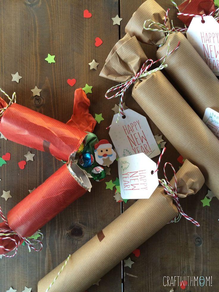 CraftWithMom: DIY Crackers και ευχές για ένα 2016 γεμάτο ευχάριστες εκπλήξεις!