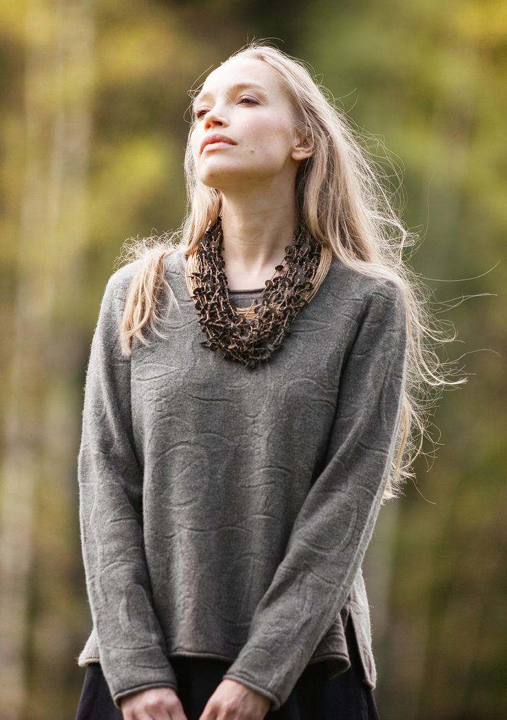 """""""Ros"""" felted sweater in wool – Cozy knitwear - $15 discount – GUDRUN SJÖDÉN – Webshop, mail order and boutiques 