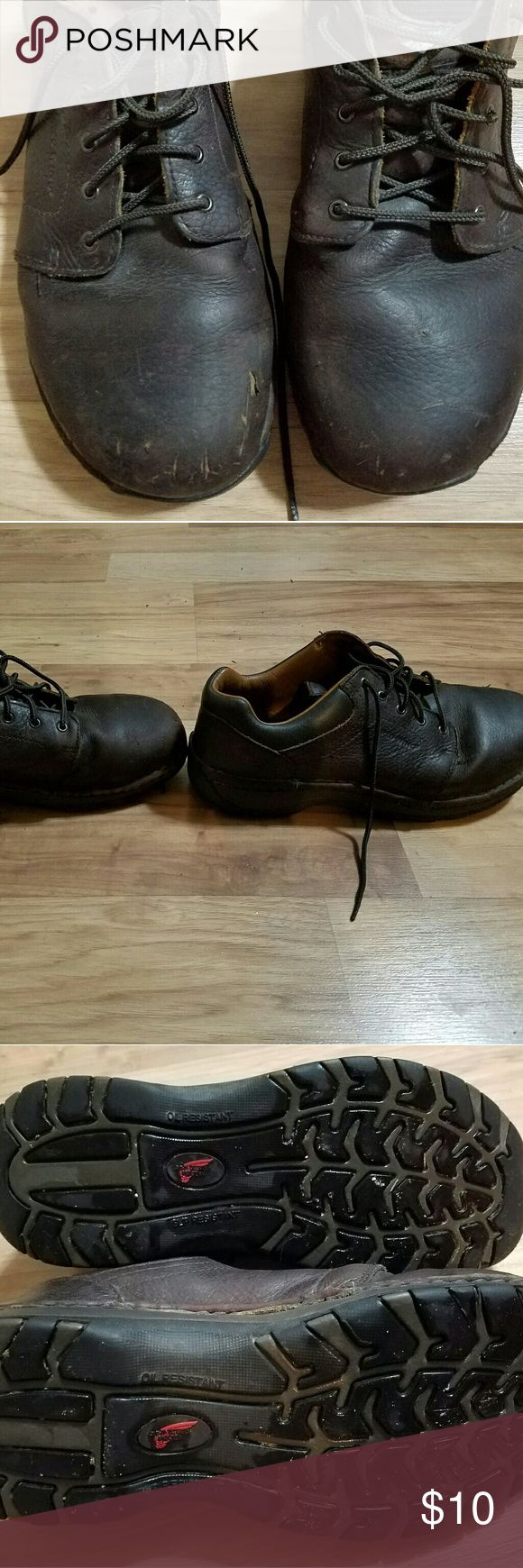 Steel toe work shoes Only have 6 months of wear but no longer working in a factory. Would like to get them to someone who needs steel toe and doesn't want to spend much for starting at a new factory job. No foot issues. I don't want to just throw them away. Red Wing Shoes Shoes