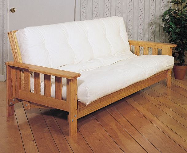 This futon sofa bed project is ideal for do-it-yourselfers who want a stylish way to keep overnight guests off the floor.
