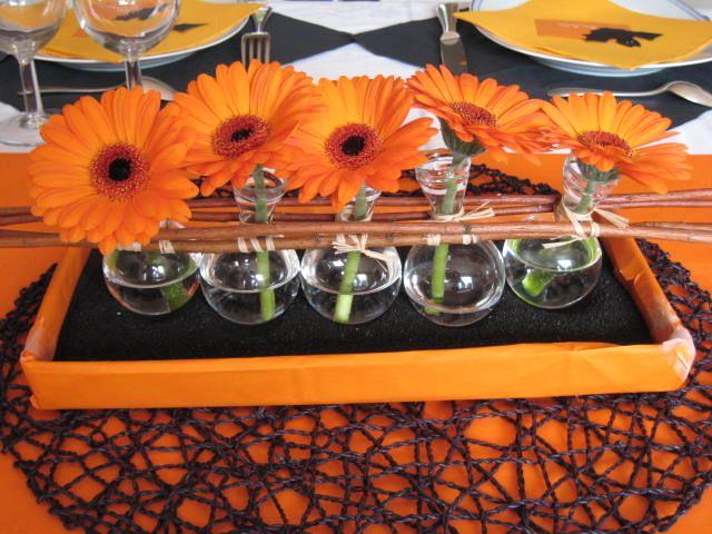 centre de table orange