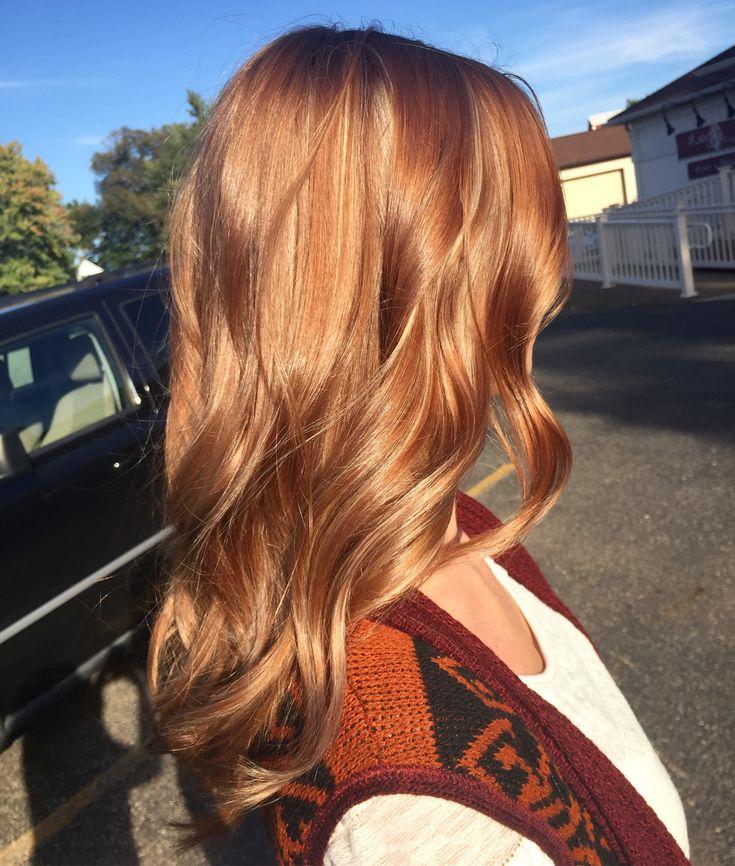 Auburn hair. Winter hair. Fall hair. Curled hair