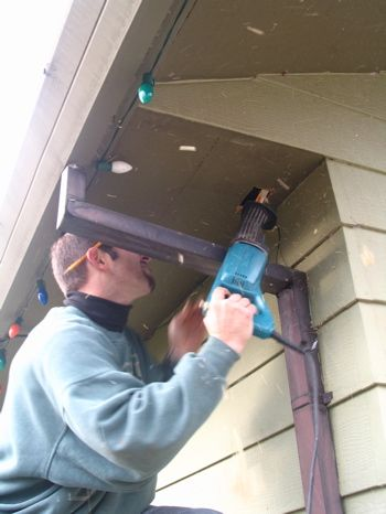 Outside outlets under house eves for Christmas lights - controlled by switches inside!