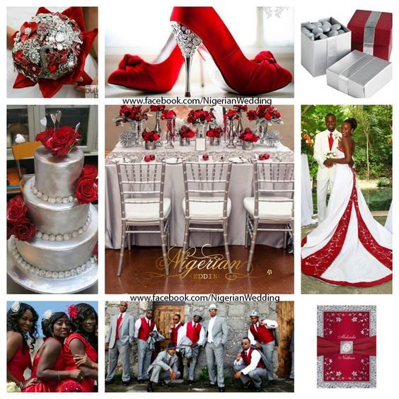 Red And Silver Wedding Color Scheme