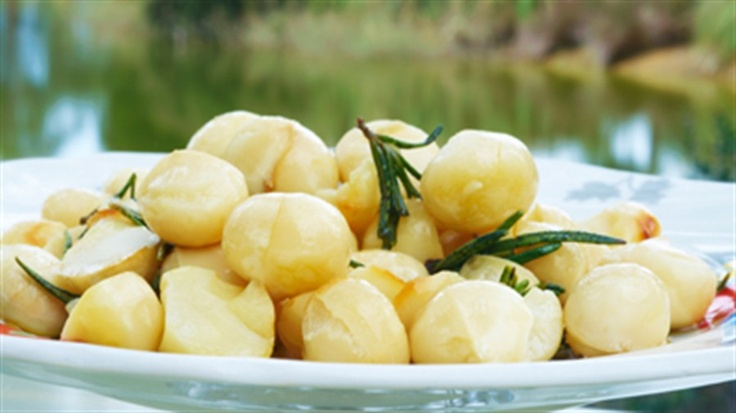 Macadamia nuts with rosemary - great snack Maggie Beer