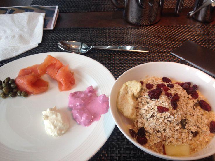 Swiss breakfast in Davos.