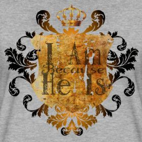 Philippians 4:13  There is nothing we can't accomplish as long as we are following the Spirit of Christ within us. The concept of this shirt is to give us as believers an opportunity for open dialoge with those who are lead to questions the designs meaning. http://fopapparel.spreadshirt.com/