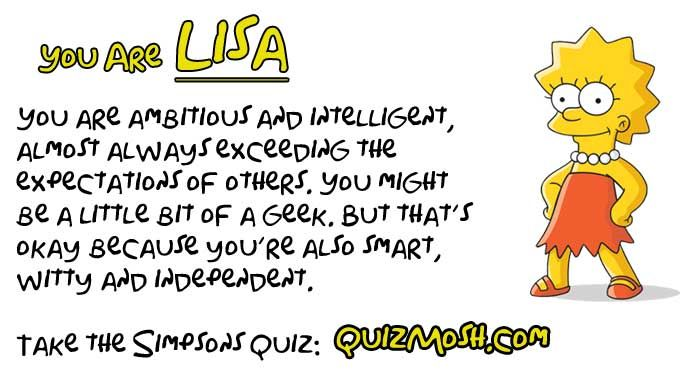 Hey, also took the quiz and I'm Lisa.
