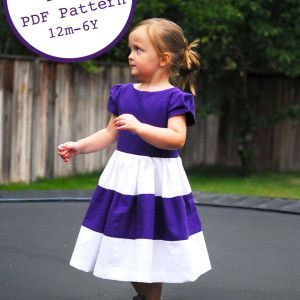 free pattern - 12M - 6Y - colorblock