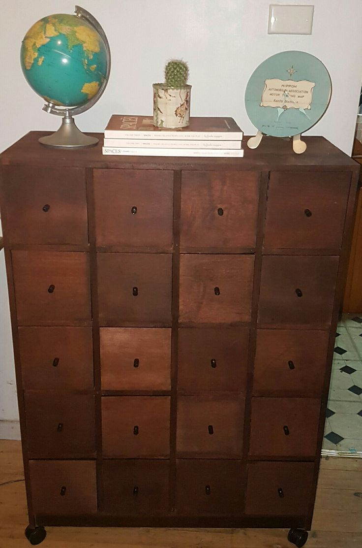 diy library drawers