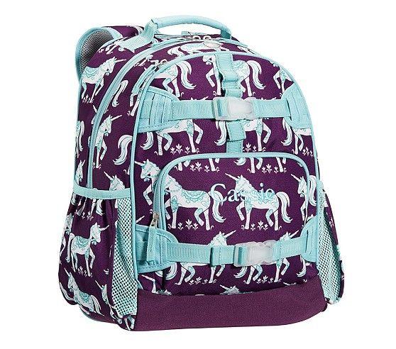 Mackenzie Plum Unicorn Backpacks Pottery Barn Kids For