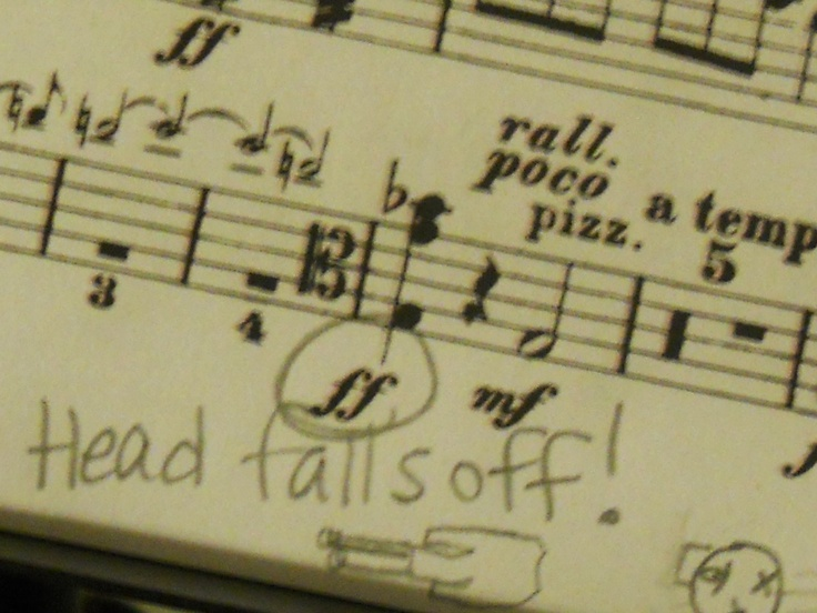 music humor  berlioz symphonie fantastique IV. march to the scaffold, when the quarter notes symbolize the head falling and bouncing