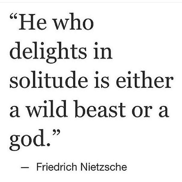 #solitude #nietzsche by floatuniverse