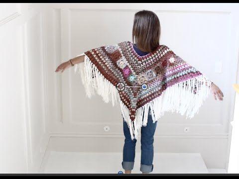 Crochet Poncho Boho Style - YouTube