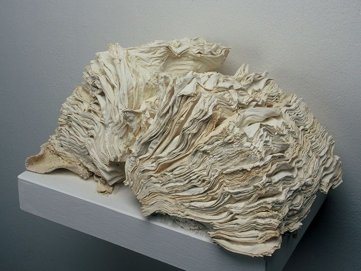 JACQUELINE RUSH LEE - Endoskeleton (From the Series Ex Libris), 2000  Petrified Book (High-fired Book in Kiln)