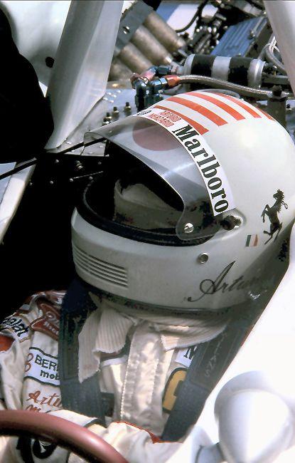 Arturo Merzario. Vitaloni Helmet