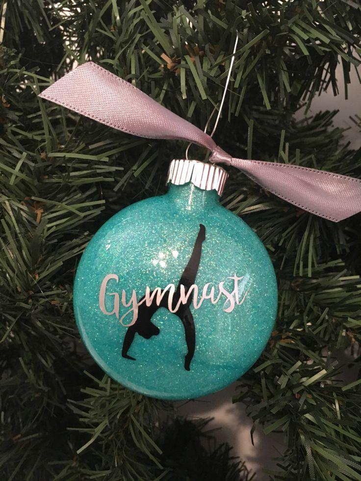 Gymnast, Gymnastics Christmas Ornament by TheLittleSparkleShop on Etsy https://www.etsy.com/listing/483513437/gymnast-gymnastics-christmas-ornament