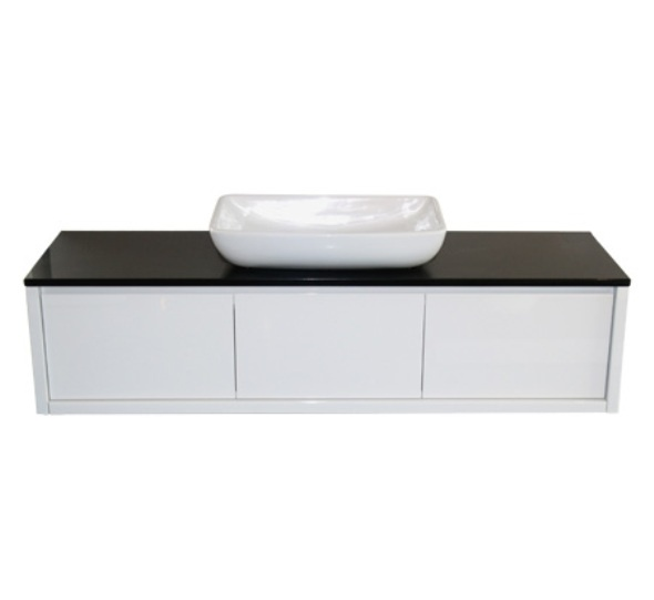 Duvalli Vos Designer High White Gloss Italian Bathroom Vanity Furniture Unit Basin - 900mm Bathroom Furniture White Gloss Vanity Unit, Wooden Vanity Units , Wall Hung