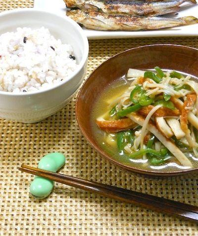 簡単ほっこり晩ご飯は雑穀米とやさしい煮物のおかずで充電!ちくわと ...