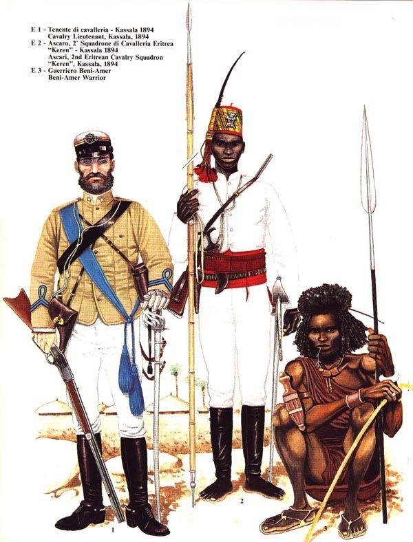 Regio Esercito - Italian colonial army 1894 - Cavalry.