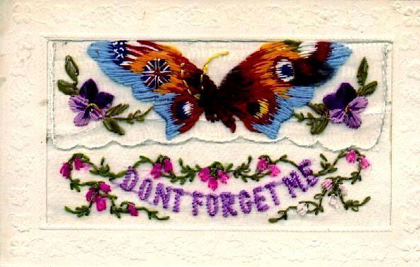 Vintage embroidered postcards