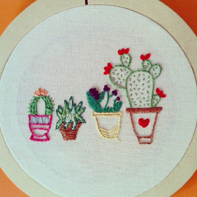 I made this for my green thumbed mom embroidery