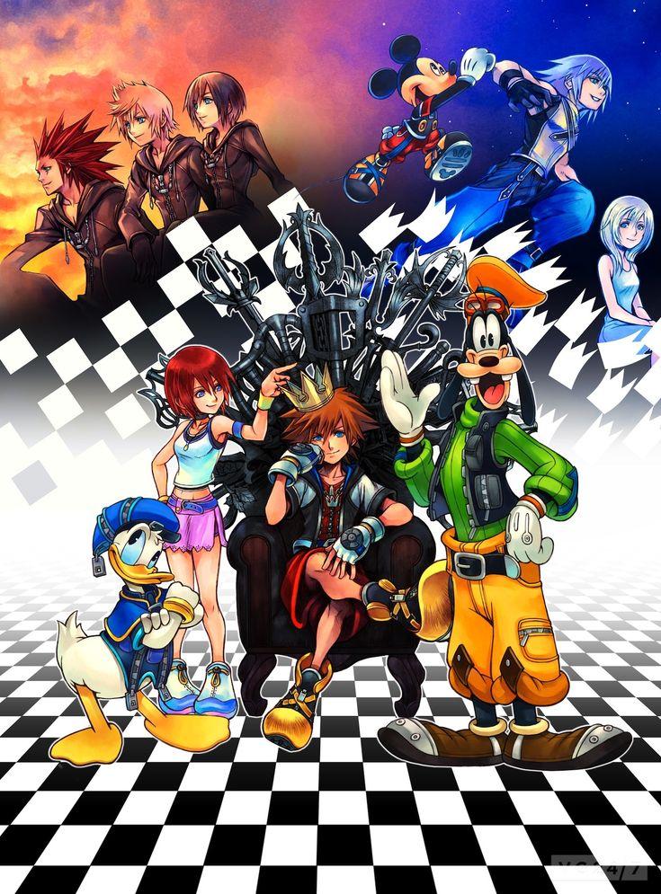 Illustration by Tetsuya Nomura Sora, Kairi, Riku, Donal, Goofy, Mickey, Namine Xion, Roxas and Axel. Kingdom Hearts HD I.5 ReMIX