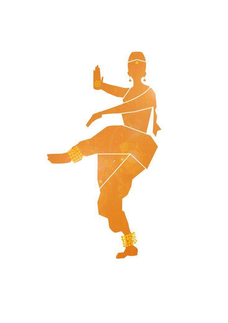 bharat natyam dancer silhouette