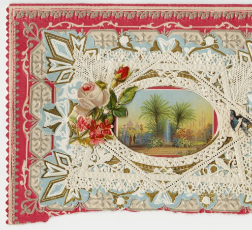 """Taj Mahal scene--""""Never talk of Love with scorn"""" :: Archives & Special Collections Digital Images :: circa 18887"""