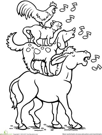 Color the Bremen Town Musicians