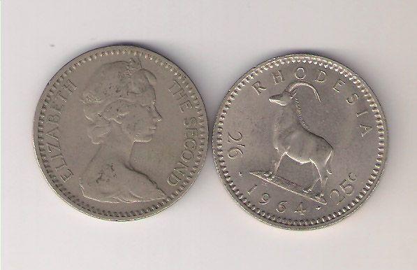 Rhodesia: Coin 2'6 - 25 cts