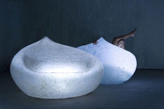 lighted drop sofa