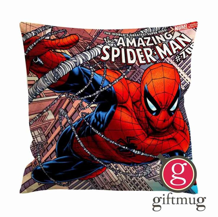 The Amazing Spiderman Marvel Comic Cushion Case / Pillow Case
