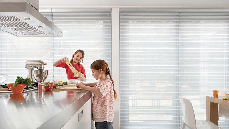 Laat u inspireren door Luxaflex® raamdecoratie. Silhouette® Shades - 75 mm