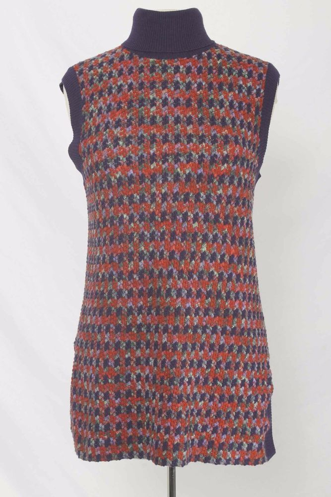 Missoni for Nieman Marcus Sz 46 or L Purple Sleeveless Sweater 1876 T217  | eBay