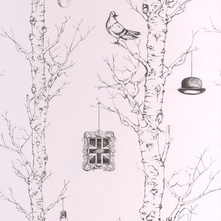 Graham and Brown Wallpaper | Sketch Tree Wallpaper | Lancashire Wallpaper