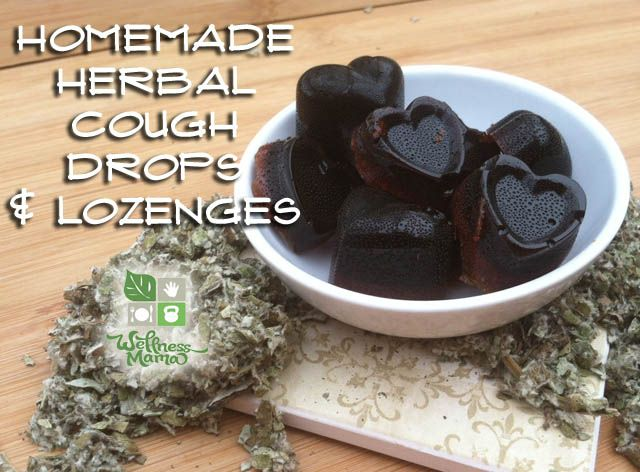 Homemade Herbal Cough Drops - with easy printable recipe. Made from honey and herbs... they work!