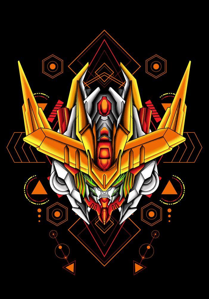 Barbatos Lupus Rex A9 sacred geometry Throw Pillow by ...