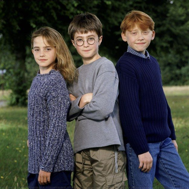 Just look at Daniel's cheeky grin. | Look At These Awkwardly Cute Photos Of The Harry Potter Cast From 2000