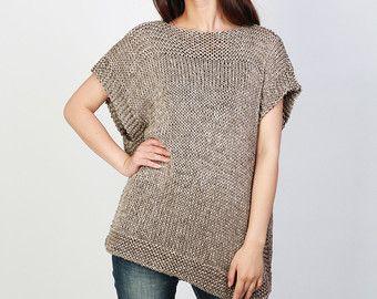 Suéter de mujer de gran TAMAÑO / punto suéter en Moca por MaxMelody