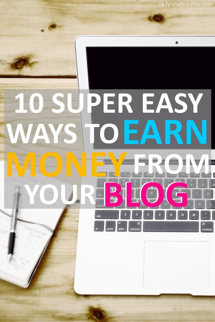 The best part about earning money from your blog is you get to get paid for the work you do once. Here are 10 super easy ways I earn money from my blog
