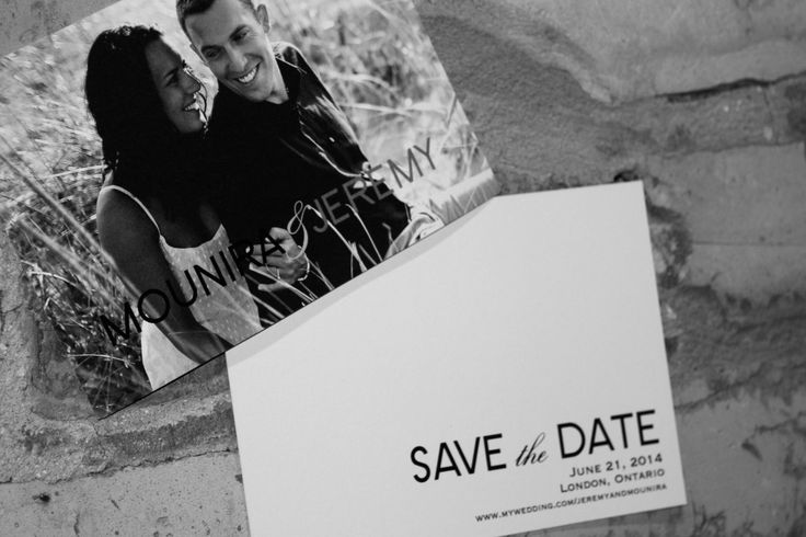La Luxe Stationery modern, elegant wedding save the date