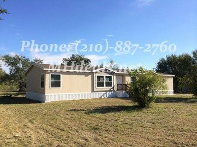 http://mhdeals.net/gallery/bank-repo-homes-with-land-for-sale/San-Antonio-TX-78253-2007K53 210-887-2760 Beautiful 5 bedrooms 3 bathrooms mobile home on .54 acres. Located Minutes from town in a great location. This home is perfect for anyone. The interior comes with Ceiling Fan, Garden tub, Laundry Room, Pantry, Split Floor Plan, Tape and Texture, and Walk-in Closets. With optional 2x6 Walls, ...  Lic 36155