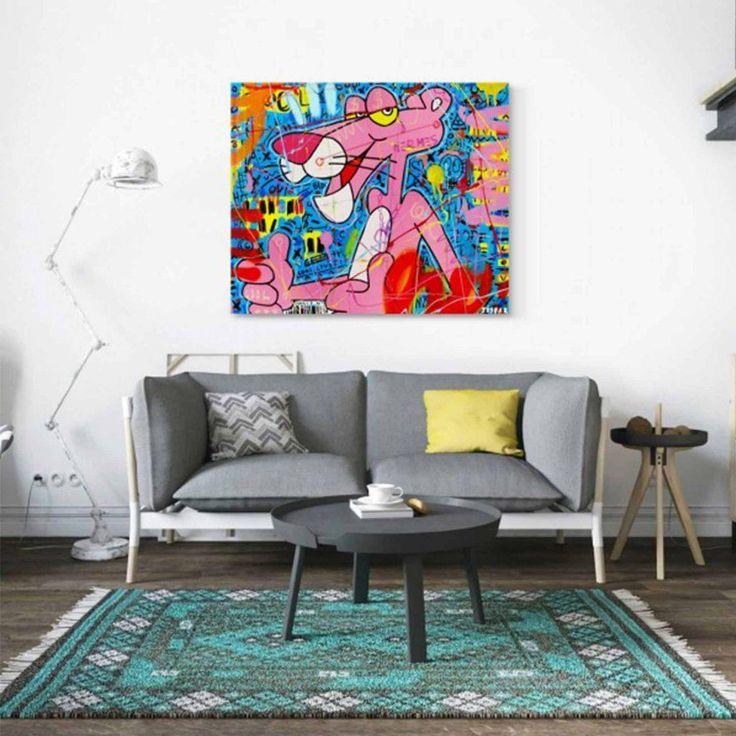 """C'est nouveau, c'est coloré et c'est un classique façon street art. Accrochez le """"Pink chill"""" chez vous, effet WAHOU garanti : https://www.sttanding.com/produit/tableau-pink-chill-by-eyefood-factory/ #eyefoodfactory #panthèrerose #streetart #tableau #coloré #effetwahou #sttanding #pinkchill"""